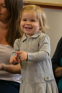 Little ones starting to sign – Charlotte is beginning to copy some fingerspelling