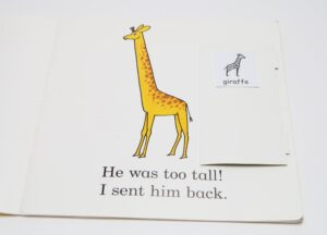Use Makaton symbols to help with understanding e.g inside storybooks